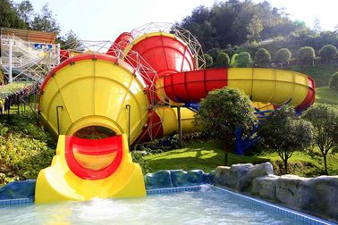 Funny Outdoor Park Water Slide Fiberglass Tantrum Valley For 480 Riders Per Hour