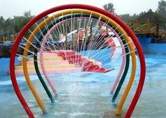 Child Water Spray Rainbow Arch Fiberglass Water Slide For Amusement Park